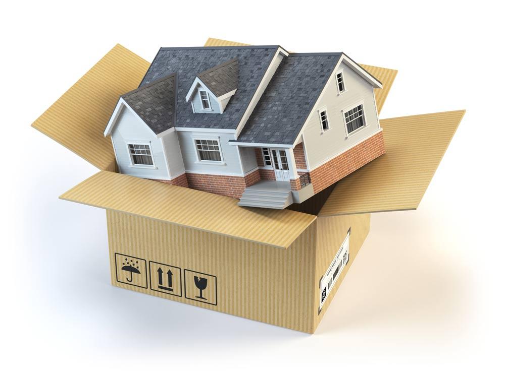 BERK Immobilien Haus Karton