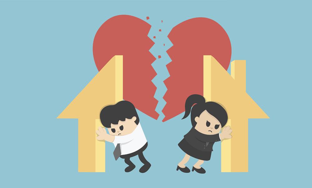 Haus Scheidung Herz Mensch